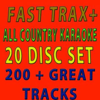 NEW FAST TRAX+ALL COUNTRY HOTTEST TRACKS 2011/20 DISC KARAOKE COUNTRY