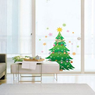 CHRISTMAS TREE ★ Mural Art Wall Window Decorative Vinyl DIY