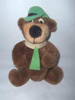 Vintage 1980 Yogi Bear 9 Stuffed Plush Animal Hanna Barbera  1012T14