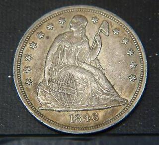 1846 seated libery dollar high grade p10456
