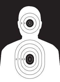 Police Pistol and Rifle Human Silhouette Shooting Targets   19x25   31
