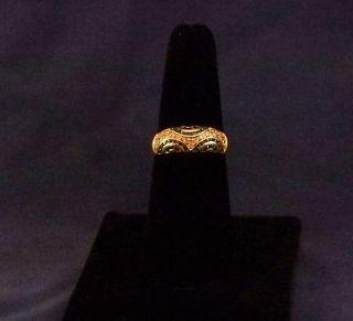 Ladies Elegant 18 kt. Gold, Emerald & Diamond Ring 3.6 Grams  SMOKIN