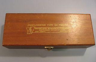 Physics Research Company Profilometer Type KA Tracer KA2 458 w/ Box