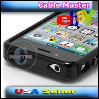 COOL BLACK AIR CUSHION FASHION CASE HOUSING FOR APPLE iPHONE 4 4G 4S