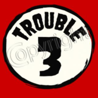 Trouble 1 2 Funny Thing 1 Thing 2 Dr Seuss Cat in The Hat Costume Kids