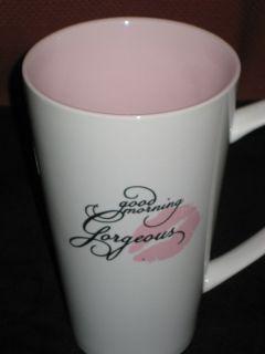 Gorgeous pink white 32 oz COFFEE TEA MUG by 10 Strawberry Street