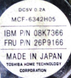 13x Fan/Heat Sinks  5V DC, 0.17 0.21 Amps  MCF 6342H05 UDQFG5E14F