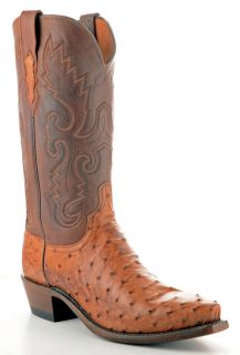 Mens 1883 by Lucchese Western Boots N1062 5 4 Barnwood Tan Full Quill