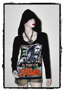 Rob Zombie Hard Punk Rock DIY Light Weight Hoodie Top