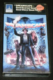 Dreamscape VHS Movie 20th Century Fox 1984 Dennis Quaid Max Von Sydow