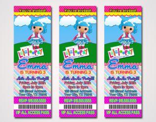 Lalaloopsy Sew Magical Custom Ticket Birthday Party Invitations