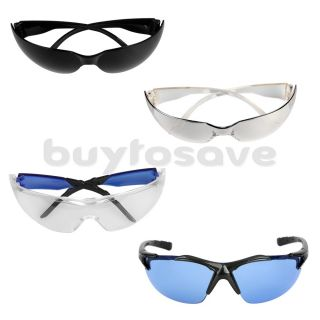 Industrial Sports Lab Safety Protective Glasses Specs Clear Blue Black