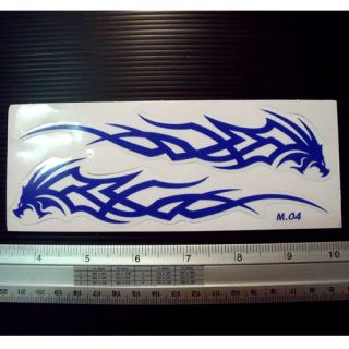 Blue Dragon Flame Bike Motor Cycles Decal Sticker 2 5x7