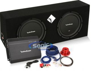 600W Rockford Fosgate Loaded Enclosure Car Prime Series Amplifier Amp