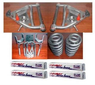 DJM 5 5 Drop lowering Kit Chevy GMC C10 73 87 w Shocks