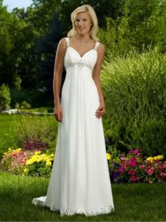 New White Ivory A Line Bow Lace Wedding Dress Gown Custom 2 4 6 8 10