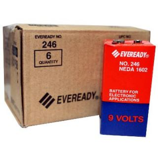 Eveready 246 Carbon Zinc 9V Battery NEDA 1602 PP6 6F50 2 6pk