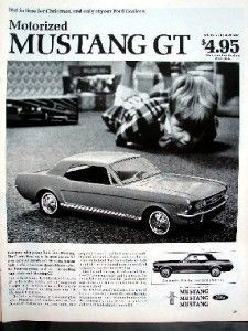 1966 ford mustang toy ad a55 14x11