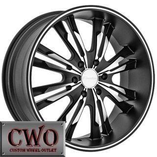 22 Black Panther Burst Wheels Rims 5x115 5 Lug Dodge Charger