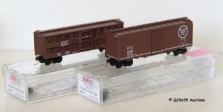 Scale 1 160 Microtrains Pair of Freight Cars Atlantic Coast Line ACL