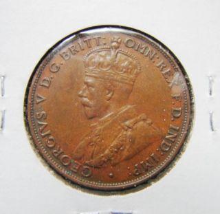 Australia 1933 One Penny Bronze Coin King Georgivs V