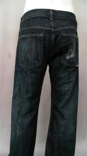 Aaron Chang Mens 32 Indigo Classic Fit Jeans Navy Blue Solid Designer