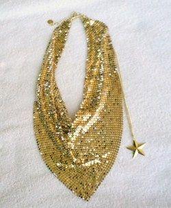 shipping policies paula abdul fyg goldtone mesh scarf necklace nib