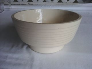 Vintage Cookson Co USA Art Pottery 8302 Ivory Cream White 7 Bowl