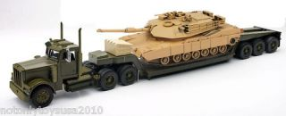 32 Freightliner Lowboy Trailer with M1A1 Abrams Tank