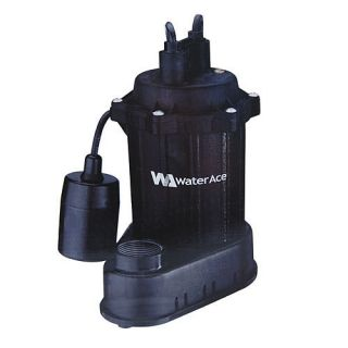 Water Ace 1 3 HP Cast Iron Submersible Sump Pump R3S