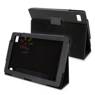 For Acer Iconia Tab A500 Tablet Black Leather Cover Case Pouch with
