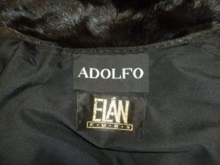 Adolfo Natural Ranch Long Black Mink Coat Cleaned and Appraisal