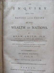 Wealth of Nations 1793 Adam Smith 3 Volumes Complete Economics Keynes