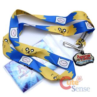 Adventure Time Finn and Jake Lanyard ID Holder with Charm Key Chain