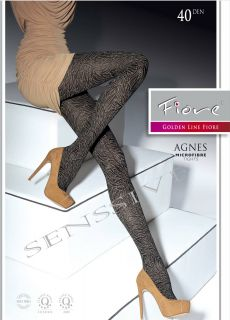 AGNES * SEMI OPAQUE MICROFIBER TIGHTS PANTYHOSE size L LARGE