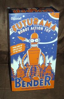Official Futurama Bender Robot Action Toy Wind Up 10 issued in 2000