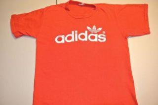 vtg adidas trefoil adi dassler t shirt t shirt small red 70s