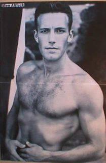 German Poster Ben Affleck SHIRTLESS Hairy Actor Teen Idol Boy Hunk