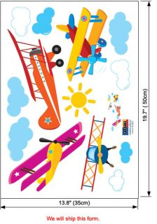 Airplane Vinyl Decals Wall Stickers Home Mural Kids