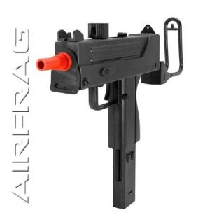 Double Eagle Mac 10 UZI Airsoft Spring Gun M42F Pistol w Folding Stock