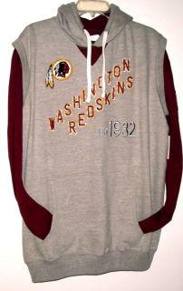 Washington Redskins XL 3 PC Mens Game Day Box Set NFL Hoodie Vest L