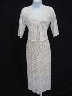 Christine Albers White Long Tshirt Maxi Dress Set Sz S