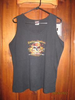 Harley Davidson Womens Black Bergdale Albert Lea Minnesota Sleeveless