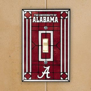Alabama Crimson Tide Crimson Art Glass Switch Plate Cover