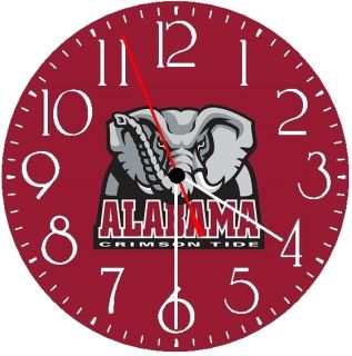 ALABAMA UNIVERSITY CRIMSON TIDE Wall Clock GLOW IN THE DARK New