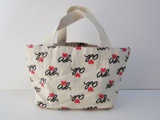 AGNES B Logo Mini Handbag / Tote Bag & Coins Bag *JAPAN* Exclusive