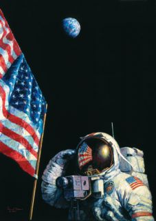 Alan Bean AMERICAN SUCCESS STORY giclee canvas, John Young Astronaut
