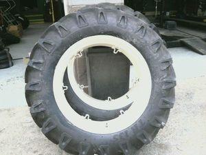 12 4x28 FORD JUBILEE 2N 8N Farm Tractor Tires w Rims 2 550x16 3 rib