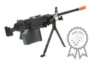 Metal M249 Para MKII MK2 Electric Airsoft Machine Gun AEG Rifle