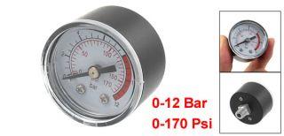 12BAR 0 170PSI 10mm Thread Gas Air Pump Pressure Gauge Compressor